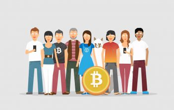 Illustration of Bitcoin community