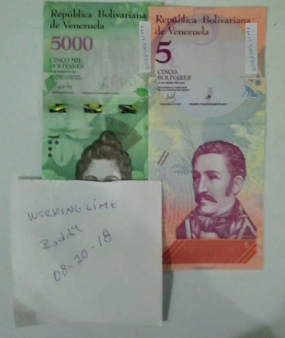 illustration de billets de bolivar, crise de l'inflation au Venezuela