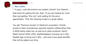 Coinhouse Dascoin discussion 1