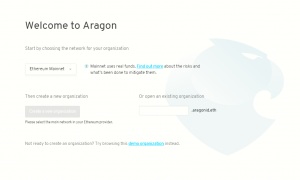 Welcome to Aragon