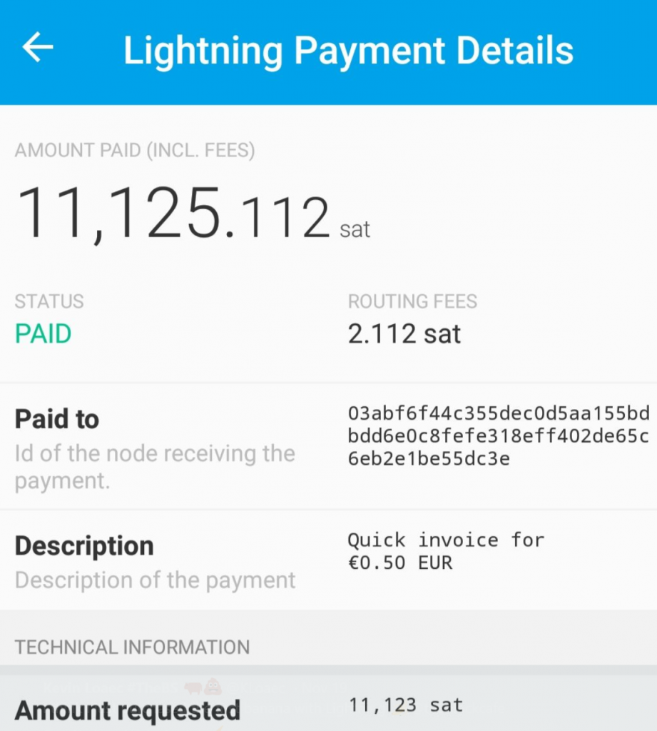 Lightning Network frais de transaction